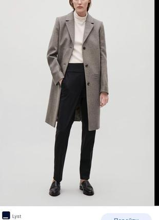 Пальто шерстяное демисезонное шерстяной тренч cos размер 363 фото