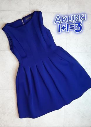 1+1=3 нарядное ярко синее короткое платье футляр бейби долл marks&spencer, размер 46 - 48