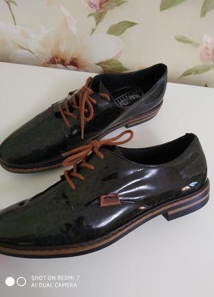 Rieker премиум ботинки натуральная кожа