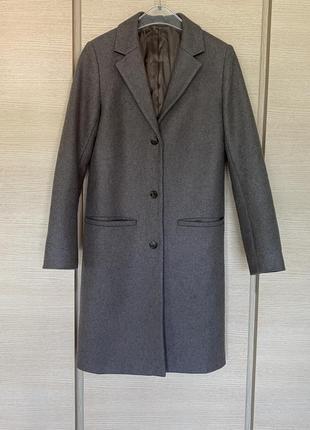 Пальто шерстяное демисезонное шерстяной тренч cos размер 366 фото