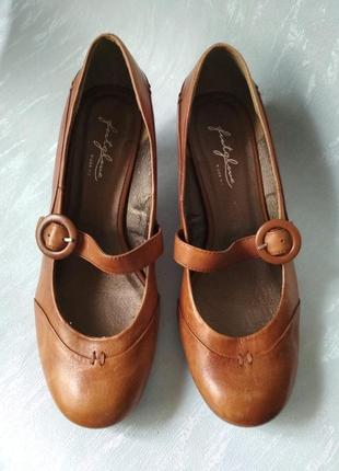 📢 распаровка красивые удобные кожаные светло-коричневые туфли footglove wider fit