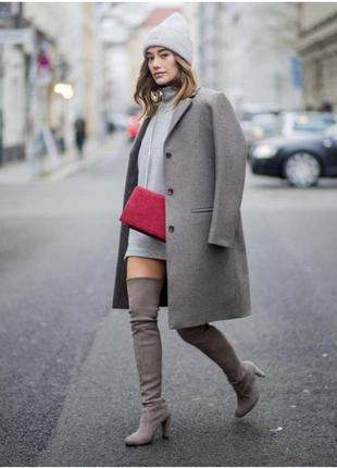Пальто шерстяное демисезонное шерстяной тренч cos размер 3610 фото