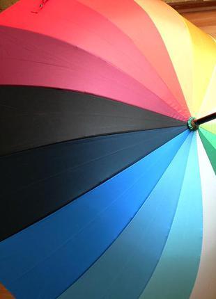 Качество! женский яркий зонт трость радуга полуавтомат купол 110 см2 фото