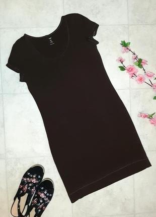 1+1=3 базовое повседневное короткое трикотажное платье h&m, размер 46 - 48