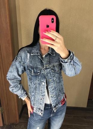 Джинсовый пиджак джинсовка