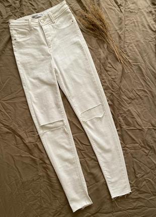 Білі штани від zara
