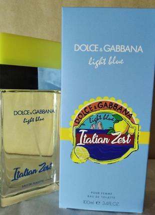 Духи dolce & gabbana light blue italian zest 100 ml оригинал