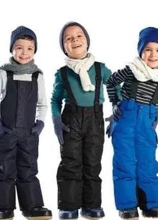 Полукомбинезон на мальчика теплый зимний 122 штаны лыжные на лямках