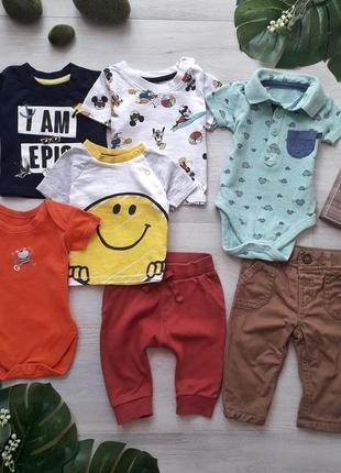 Комплект: футболки, бодіки, штани george
