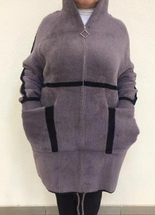 Пальто из альпаки большой размер
