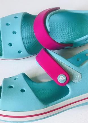 Crocs j 2 33-34 размер босоножки на липучках