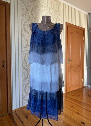 Италия!! 💯% шелк воздушное невесомое  шикарное платье
