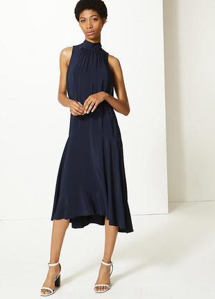 Нарядное платье миди,платье для особого случая из шелковистой вискозы
