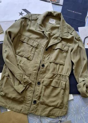 🦋 стильный пиджак /ветровка красивого цвета хаки