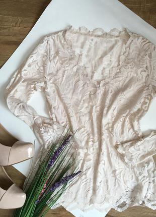 Блуза кофточка гипюр