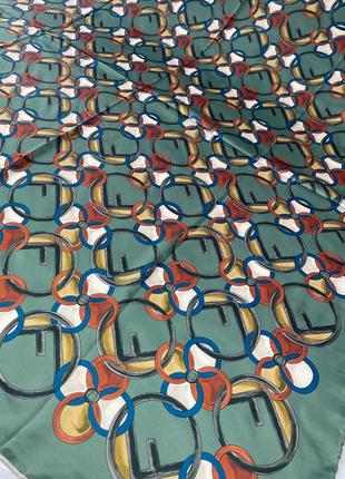 Шёлковый платок шарф с ручной обработкой края2 фото