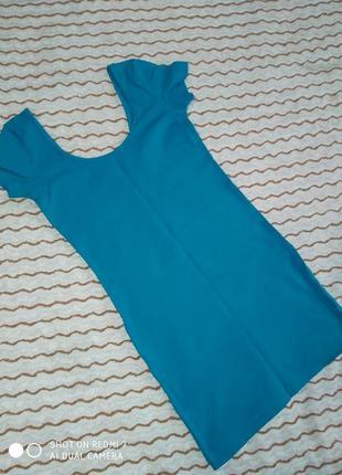 Платье темный бирюзовый или цвет морской волны