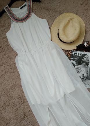 Эффектное платье в греческом стиле в пол с разрезами/ сарафан