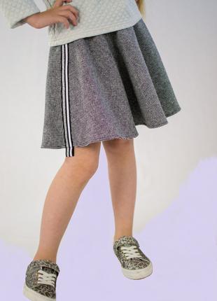 Твидовая юбка солнце для девочки 6-11 лет.
