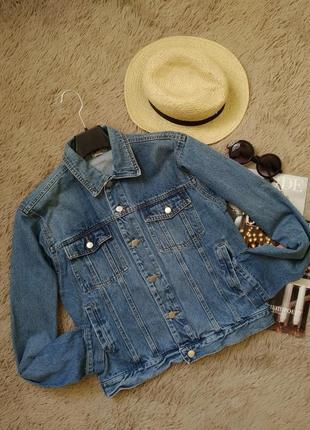 Офигенная винтажная джинсовка оверсайз/джинсовая курточка/куртка/пиджак/жакет