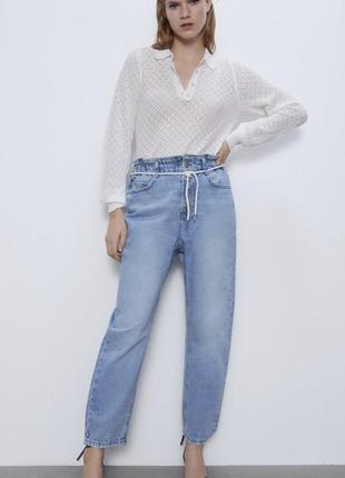 Zara! самая крутая и комфортная модель baggy, красивенный голубой цвет, плотный котон.