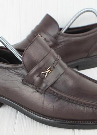 Туфли ambre кожа дания 40р мокасины