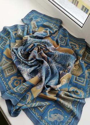 Красивий фірмовий шовковий платок jashnani!!! оригінал!!!