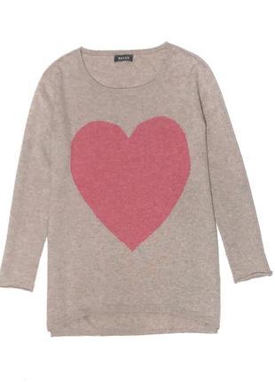 Классный,мягкий удлиненный свитерок с отличным составом