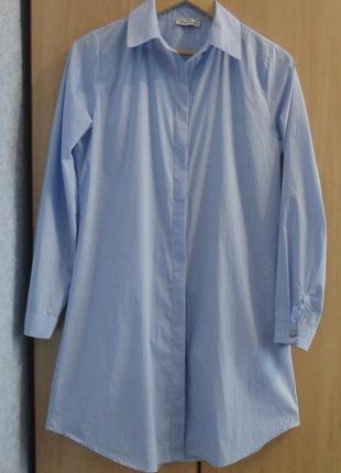 Супер  брендовая туника удлиненная рубашка  платье хлопок zamane