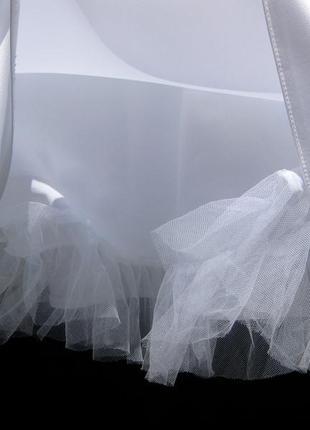 Платье lilly свадебное выпускное белое короткое8 фото