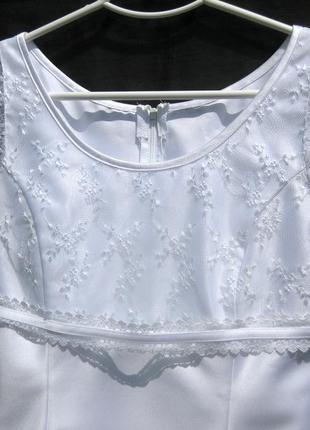 Платье lilly свадебное выпускное белое короткое3 фото