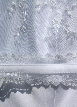 Платье lilly свадебное выпускное белое короткое7 фото