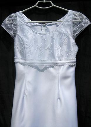 Платье lilly свадебное выпускное белое короткое2 фото