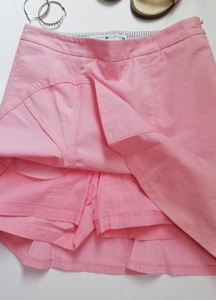 Шорты-юбка короткие розовые