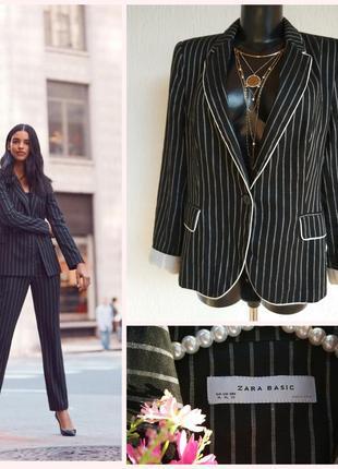 Фирменный стильный качественный натуральный пиджак из льна