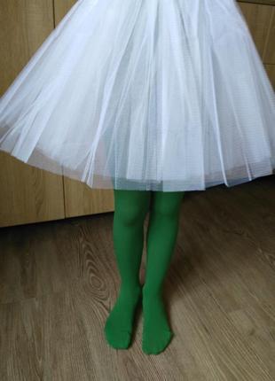 Зеленые бархатные колготки на рост 110-130 см. есть цвета