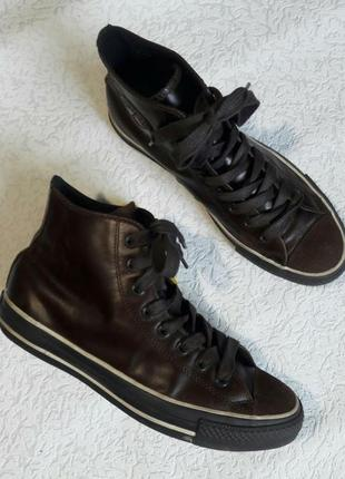 Кожаные кроссовки converse 41.5р шкіряні кросівки