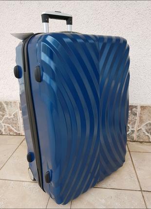Чемодан из поликарбоната большой mercury 11200 на 2-х колесах синий