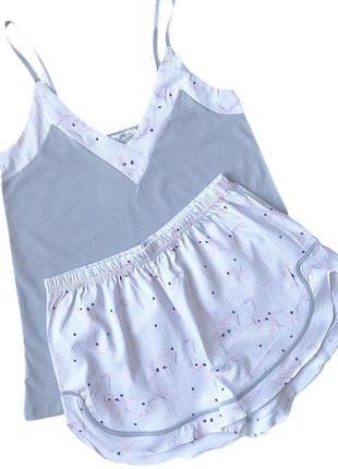 Пижама шорты   майка из хлопка