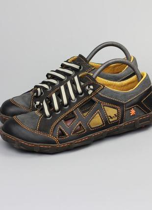 Кожаные кроссовки мокасины the art company