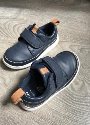 Clarks туфли мокасины кроссовки кожаные р23 15 см