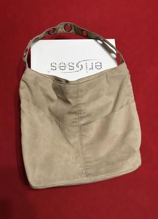 Новая пудровая сумка под замш