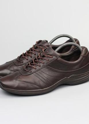 Фирменные кожаные кроссовки в стиле ecco geox caterpillar