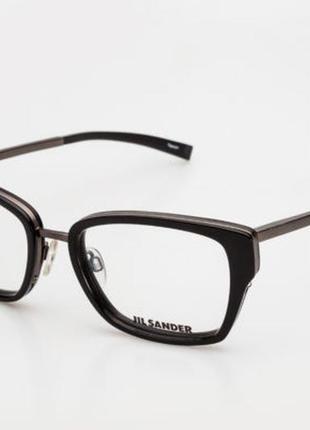 Новая титановая оправа jil sander оригинал премиум очки графит