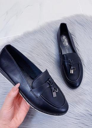 Туфли-мокасины черные