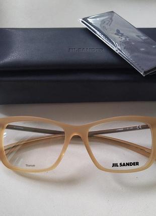 Новая титановая оправа jil sander унисекс премиум очки