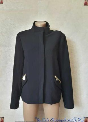 Фирменное oltre полупальто/осенний пиджак на 35 % вискоза в синем цвете, размер 2хл
