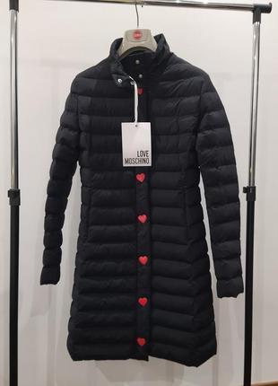 Новая куртка love moschino оригинал пальто пуховик премиум москино