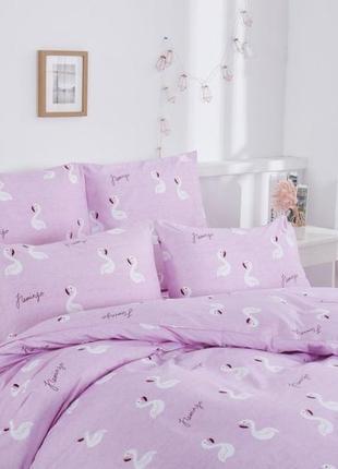 Двухспальное постельное бельё фламинго