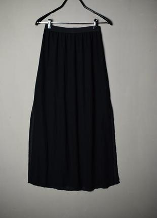 N&m  черная юбка длиннаяс разрезами по боках